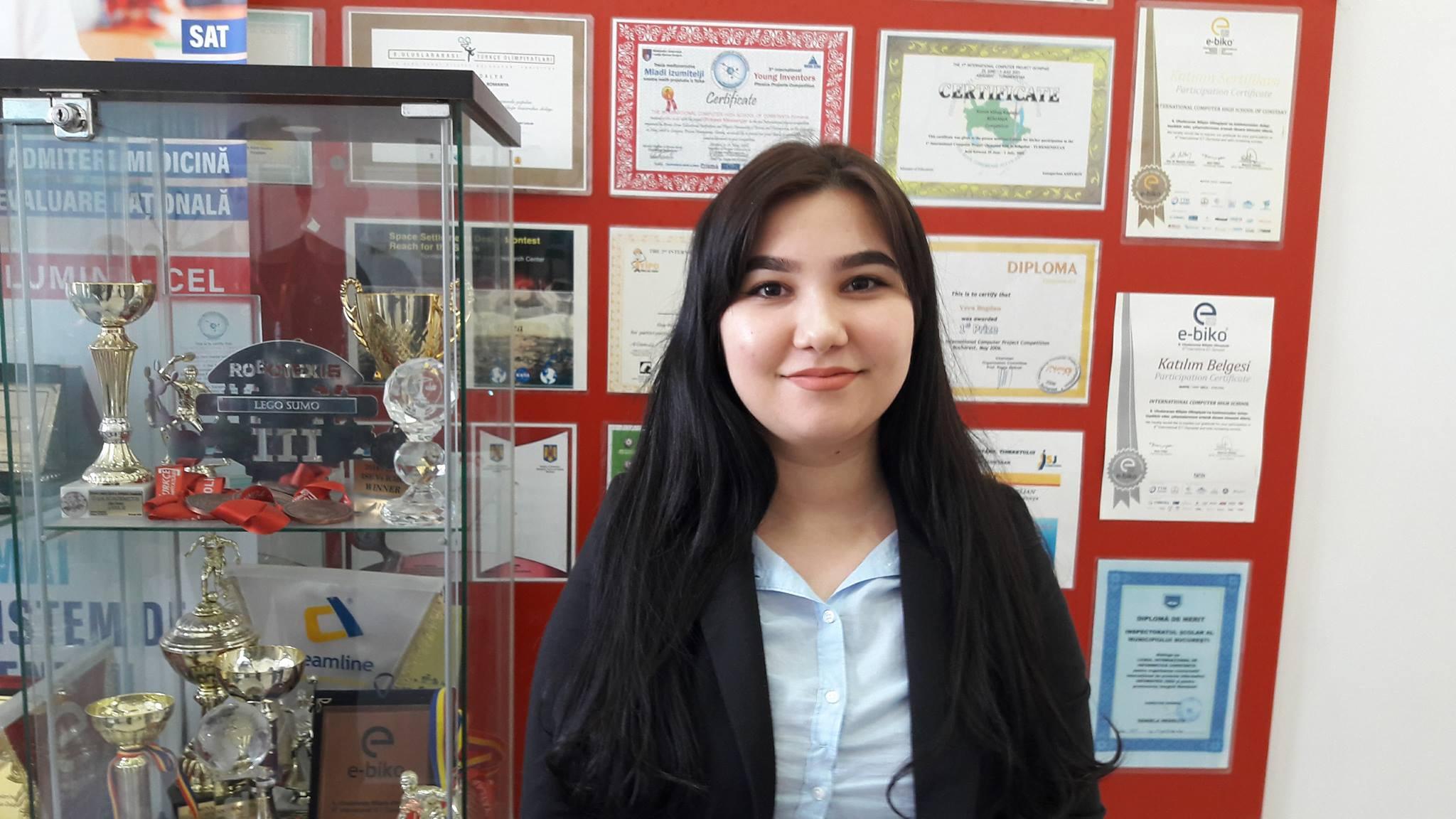 Sermin Izet este eleva cu care ne mandrim in fiecare an la Olimpiada de Limba Spaniola.