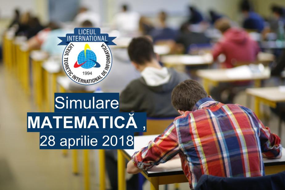 Simulare Matematica 5 mai 2018