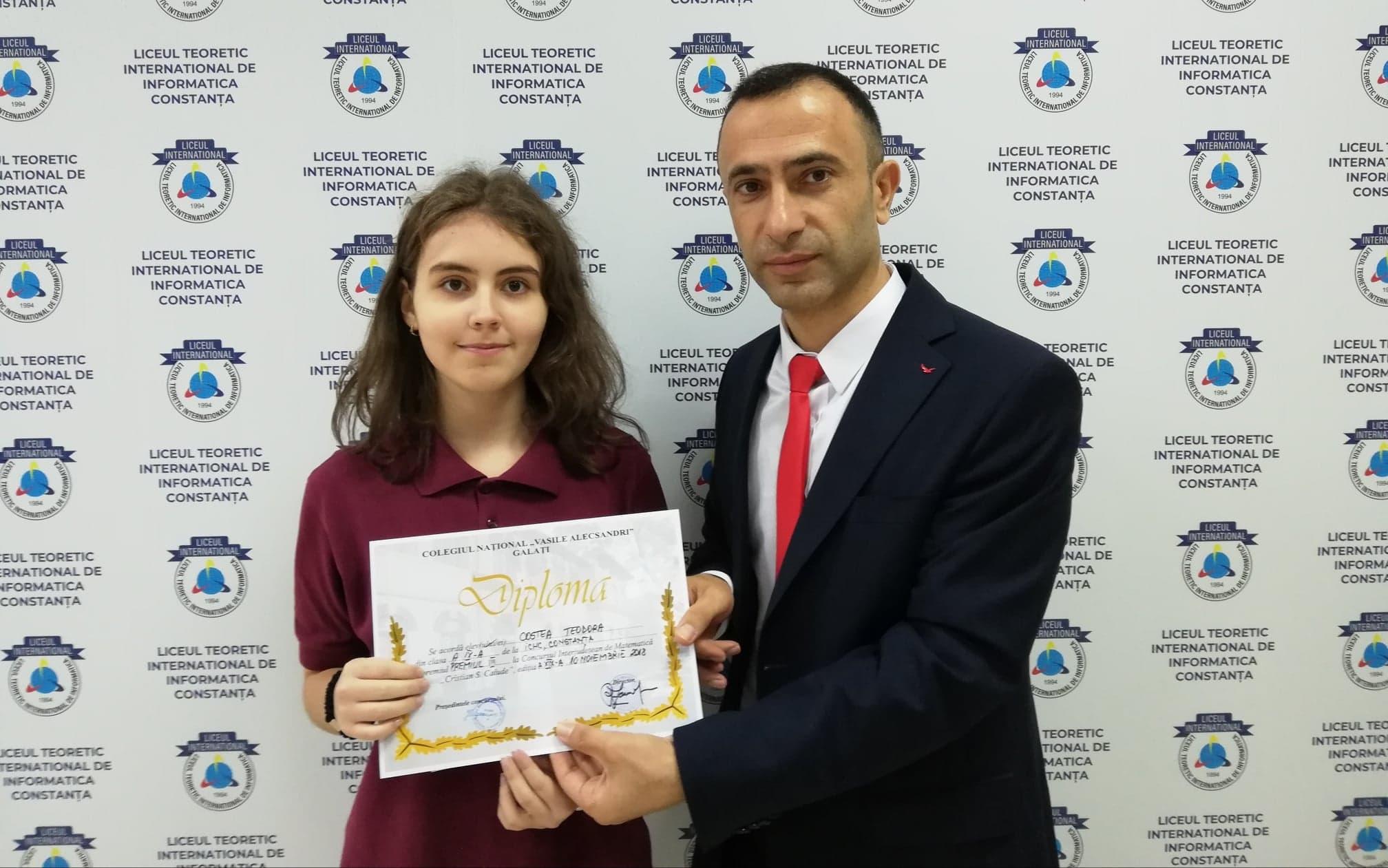 """Suntem foarte mandri de echipa noastra de premianti la Concursul National de Matematica """"Laurentiu Panaitopol"""""""
