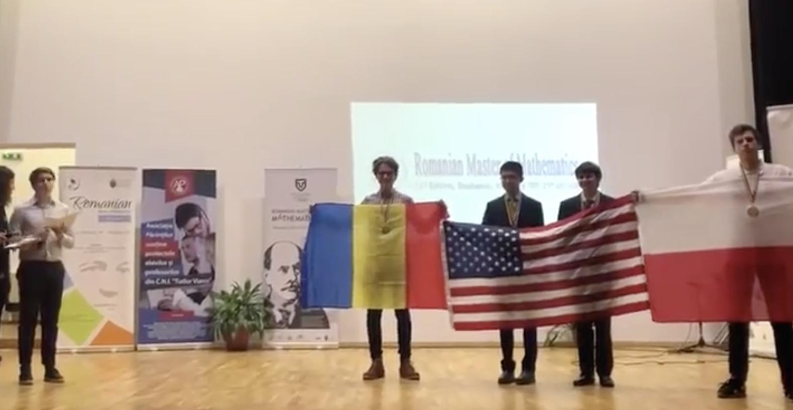 Edis Memis, premiat cu medalie de aur la Concursul International Master of Mathematics