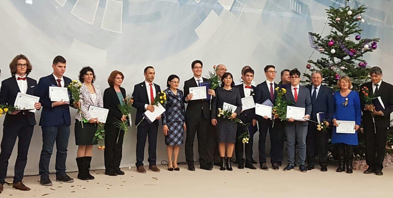 Ministerul Educatiei Nationale in cadrul Festivitatii de premiere a olimpicilor români care s-au remarcat în anul școlar 2017-2018 la concursurile internaţionale
