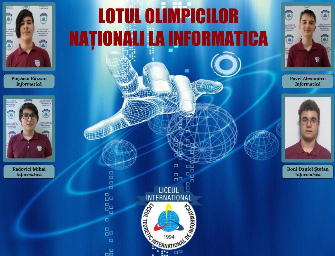 LOTUL OLIMPICILOR NAȚIONALI LA INFORMATICA