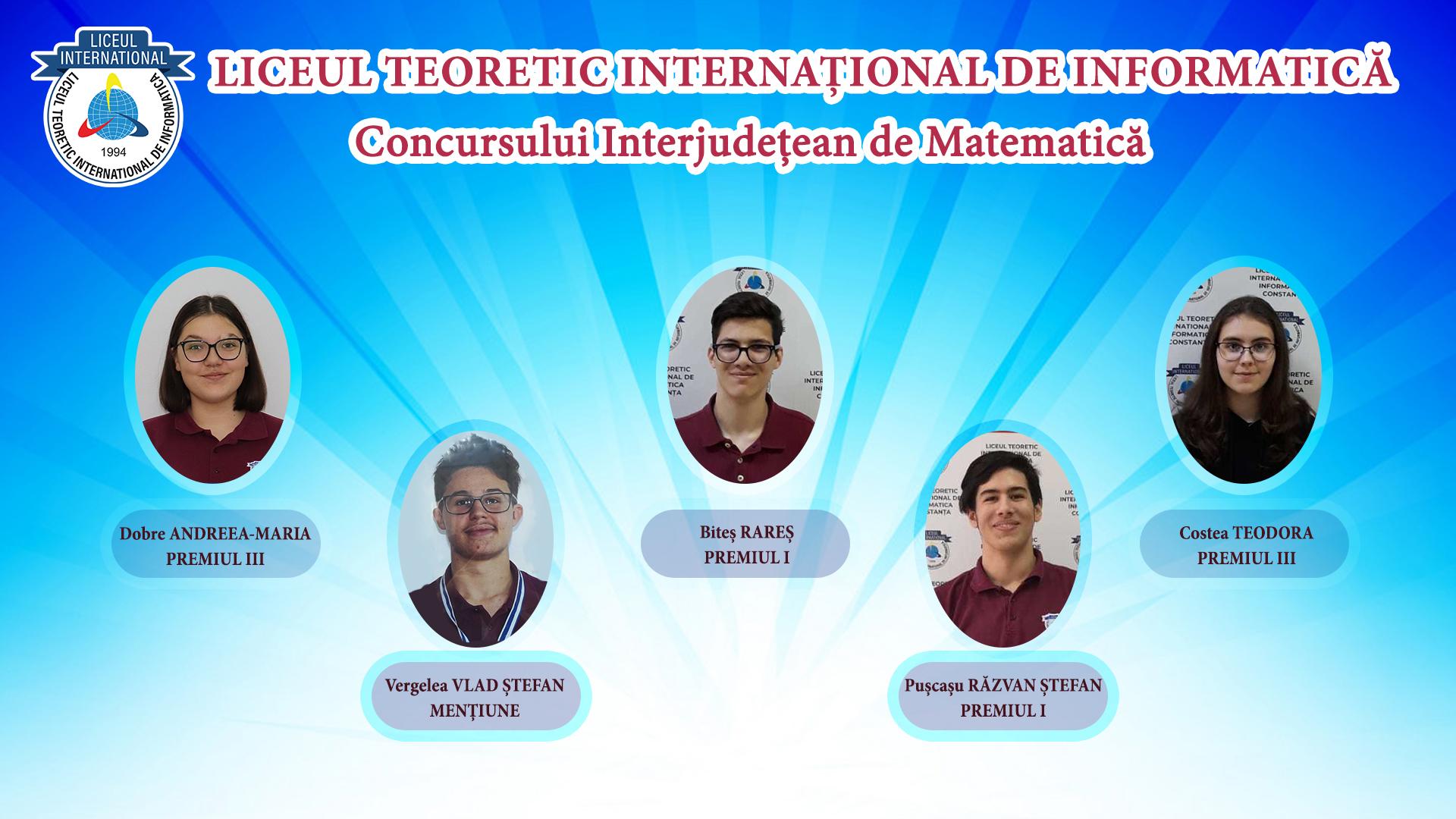 """Concursului Interjudețean de Matematică """"PETRUMOROȘAN-TRIDENT"""""""
