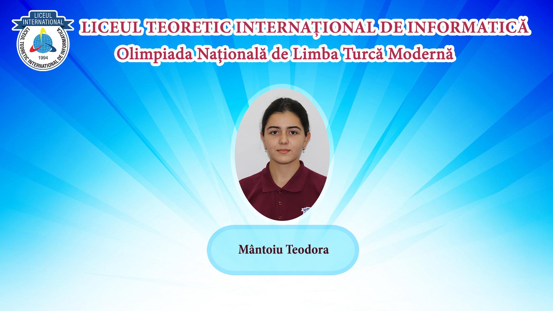 Olimpiada Națională de Limba Turcă Modernă